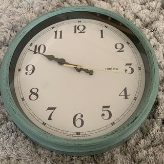 フランフラン(Francfranc)の北欧 掛け時計 グリーン アンティーク風(掛時計/柱時計)