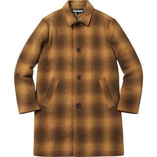 シュプリーム(Supreme)のMサイズ Supreme Shadow Plaid Wool Overcoat(チェスターコート)