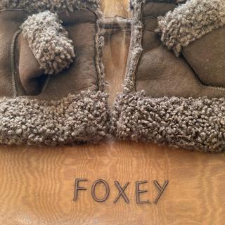 フォクシー(FOXEY)のフォクシー皮グローブ可愛いお指入れ(手袋)