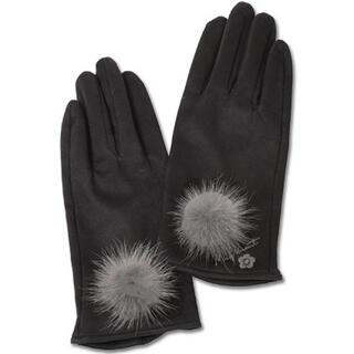 マリークワント(MARY QUANT)の新品 マリークワント 手袋 スエードミンクファー   黒(手袋)