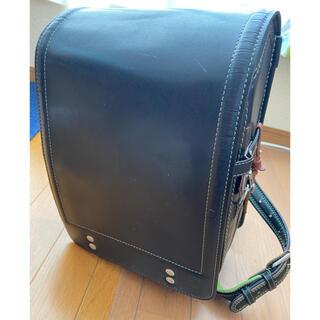 ツチヤカバンセイゾウジョ(土屋鞄製造所)の土屋鞄 ランドセル 黒に緑(ランドセル)