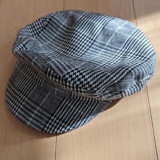 ジーユー(GU)の【GU】ハンチング帽千鳥格子柄(ハンチング/ベレー帽)