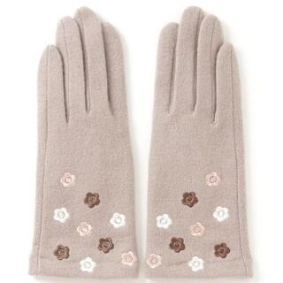 マリークワント(MARY QUANT)の新品 マリークワント デイジー刺繍 手袋 ベージュ(手袋)