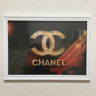 シャネル(CHANEL)のA4サイズアートポスターフレーム付き白、黒、PK(ウェルカムボード)