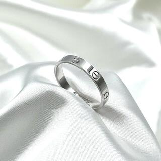 カルティエ(Cartier)の美品☆カルティエ ラブ ウェディング リング ホワイトゴールド 24号 指輪(リング(指輪))