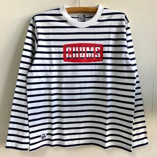 チャムス(CHUMS)の新品 CHUMS ロゴ ロングtシャツ メンズ wbl(Tシャツ/カットソー(七分/長袖))
