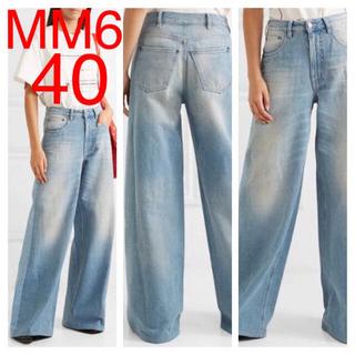エムエムシックス(MM6)の新品 MM6 メゾン マルジェラ  ワイドデニム フレア ハイウエスト 40(デニム/ジーンズ)
