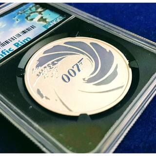 【最高鑑定】J・ボンド 007 イギリス連邦ツバル 1オンス 1ドル 銀貨(貨幣)
