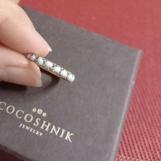 ココシュニック(COCOSHNIK)のSale!ココシュニック 天然石 フルエタニティリング(リング(指輪))