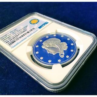 【限定オリジナル】アメリカ G・T・モルガン リバティ銀貨 2017 PF70(貨幣)