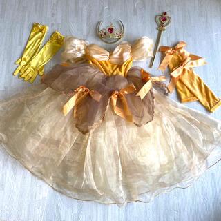 ディズニー(Disney)の一度使用☆ベル 美女と野獣 ドレス セット プリンセス 110cm(ドレス/フォーマル)