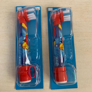 ブラウン(BRAUN)のブラウン ポケモン 替ブラシ 2本 新品未開封(歯ブラシ/デンタルフロス)