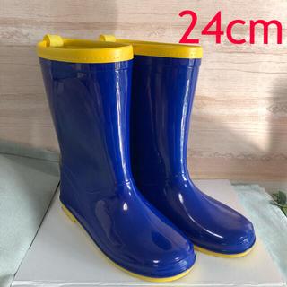 青×黄色 レインブーツ 24cm(長靴/レインシューズ)