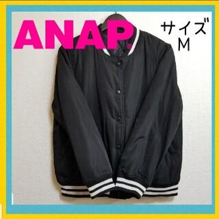 アナップ(ANAP)の❣️カッコ可愛い❣️【ANAP】中綿ボリュームスリーブブルゾン 黒 M(ブルゾン)