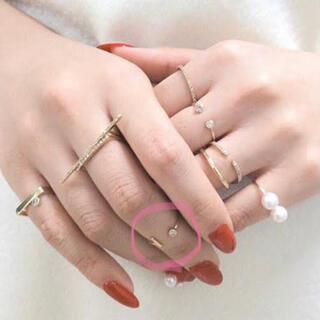トゥモローランド(TOMORROWLAND)のHirotaka ヒロタカ ダイヤモンド ピンキーリング(リング(指輪))