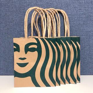 スターバックスコーヒー(Starbucks Coffee)のスターバックス ショップ袋 6枚 ショッパー 紙袋 サイレンロゴ 紙バッグ (ショップ袋)