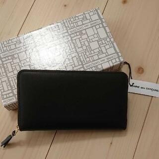 コムデギャルソン(COMME des GARCONS)のコム・デ・ギャルソン 長財布 ラウンドファスナー レディース メンズ ブラック(財布)