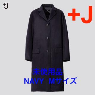 UNIQLO - 【タイムセール】ユニクロ +J  カシミヤブレンドチェスターコート ネイビー M