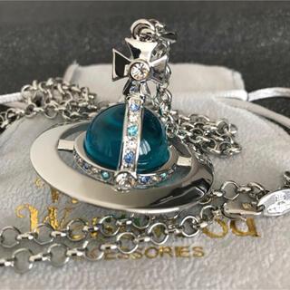 ヴィヴィアンウエストウッド(Vivienne Westwood)の新品 ネックレス ライトブルー✖︎シルバー 刻印あり(ネックレス)