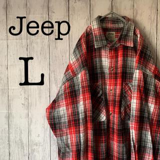 【Jeep】ジープ ビッグサイズ 厚手 ネルシャツ ビンテージ アメカジ