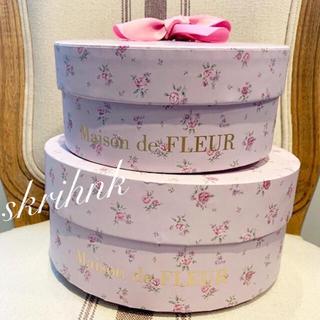メゾンドフルール(Maison de FLEUR)のメゾンドフルール♡7周年限定ギフトBOX♡ショッパー付♡花柄♡フラワー♡ラデュレ(ショップ袋)