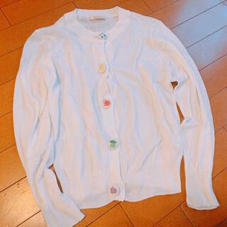 アトリエドゥサボン(l'atelier du savon)のdidizizi 刺繍ボタン カーディガン (カーディガン)