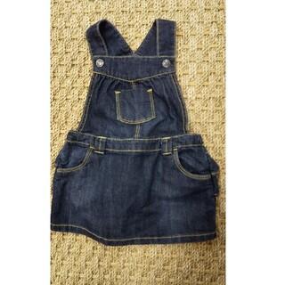 オールドネイビー(Old Navy)の未使用 90サイズデニム ジャンパースカート オーバーオール(ワンピース)