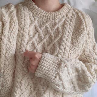 ロキエ(Lochie)のvintage wool fisherman knit(ニット/セーター)