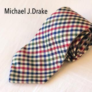 ドレイクス(DRAKES)のMichael J.Drake 名門ブランド クラシカルチェック シルクネクタイ(ネクタイ)