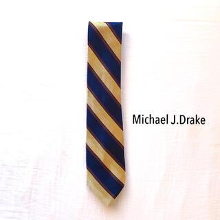 ドレイクス(DRAKES)のMichael J.Drake 名門ブランドクラシカルストライプ シルクネクタイ(ネクタイ)