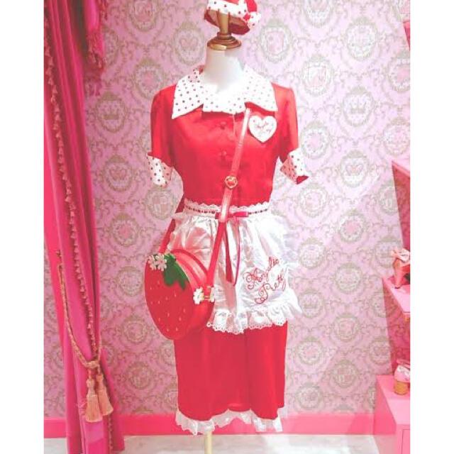 Angelic Pretty(アンジェリックプリティー)のAngelicPretty Milkshakeワンピース赤☆サンプル品 レディースのワンピース(ひざ丈ワンピース)の商品写真