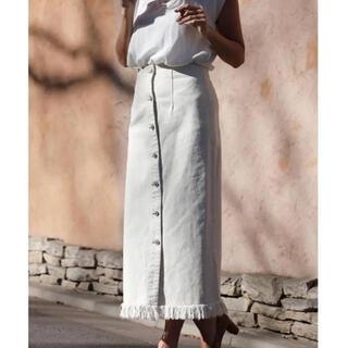 ルームサンマルロクコンテンポラリー(room306 CONTEMPORARY)のroom306 contemporary フロントボタンフリンジスカート(ロングスカート)