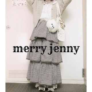 メリージェニー(merry jenny)のmerry jenny CHIC-ish ギンガムティアードスカート(ロングスカート)
