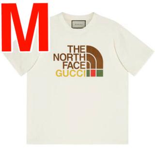 グッチ(Gucci)のGucci the north face コラボTシャツ Mサイズ 白(Tシャツ/カットソー(半袖/袖なし))