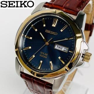 セイコー(SEIKO)の【箱なし特価】SEIKOセイコー メンズ男性 腕時計 新品 ソーラー レザー(腕時計(アナログ))