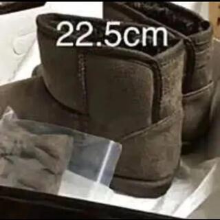 リボン付ミニ丈フェイクムートンブーツ/カラー:ブラウン/サイズS 22.5cm(ブーツ)