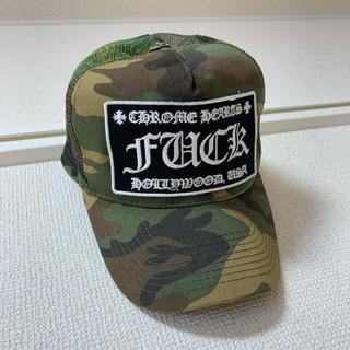 クロムハーツ(Chrome Hearts)のクロムハーツ名古屋購入 トラックキャップ Fuck カモフラ 迷彩(キャップ)