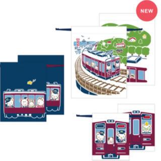 ファミリア(familiar)の新品未開封  familiar & 阪急電車 限定 コラボ 巾着セット(ランチボックス巾着)