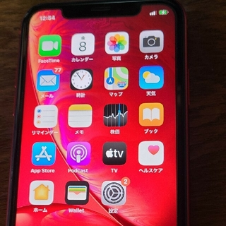 アイフォーン(iPhone)のiphone xr docomo 128gb 赤(スマートフォン本体)