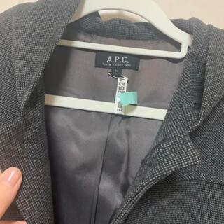 アーペーセー(A.P.C)の✴︎APC フード付きコート グレー Mサイズ(チェスターコート)