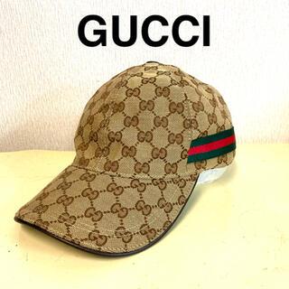 Gucci - 定価3.5万円 GUCCI キャップ Mサイズ 美品 イタリア製 人気 激安