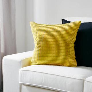 イケア(IKEA)のIKEA イケア クッションカバー イエロー 黄色(クッションカバー)
