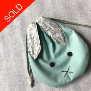 ボンポワン(Bonpoint)の【handmade】うさ耳 巾着袋(外出用品)