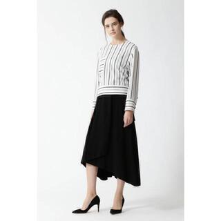アドーア(ADORE)のADORE 2019 ストレッチヴィスプレーティングニットスカート.(ロングスカート)