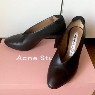 アクネ(ACNE)のAcne studios パンプス ハイヒール 黒 36(ハイヒール/パンプス)