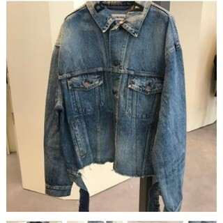 バレンシアガ(Balenciaga)のBALENCIAGA 36  刺繍ロゴ jacket(Gジャン/デニムジャケット)