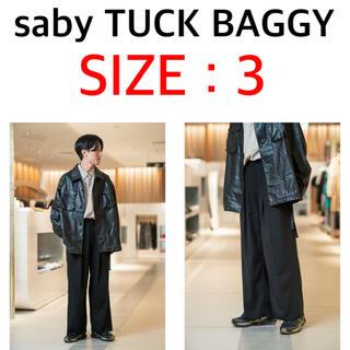 SUNSEA - saby TUCK BAGGY HARD TWISTED YARN CLOTH