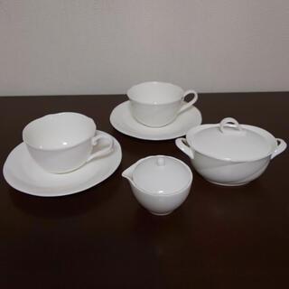 ノリタケ(Noritake)の【Noritake】ペアカップ&ソーサー& シュガーポット&クリーマー(食器)