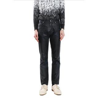 ジルサンダー(Jil Sander)のJIL SANDER BLACK COATING DENIM PANTS(デニム/ジーンズ)