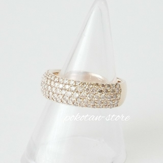ポンテヴェキオ(PonteVecchio)の豪華【ポンテヴェキオ】K18PG  ダイヤモンド  パヴェ リング 1.07ct(リング(指輪))